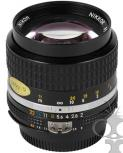 Nikon 085mm f/2 manual focus prime lens  - will fit Canon EF