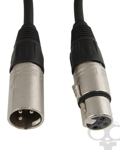 Coiled XLR audio cable 1-4m