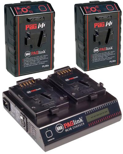 PAG PAGlink v-lock 96w Dual Battery Kit with Dual Charger