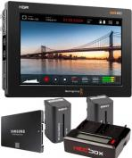 "Blackmagic 7"" Video Assist 4K HDR monitor/recorder battery kit"
