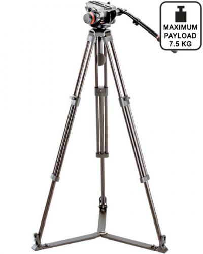 Sachtler DA75 L tripod with Manfrotto 504HD head