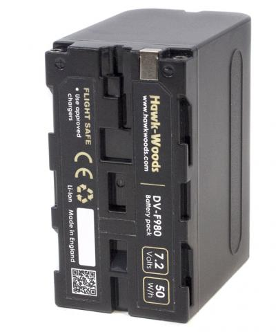 Sony NPF980 Compatible Battery 7200mAh NP-F by Hawks Wood