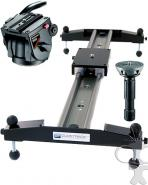 Glidetrack Hybrid HD Slider Dolly 1m with tripod head