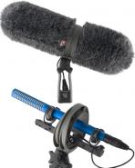 Rycote Windscreen + shotgun grip suspension