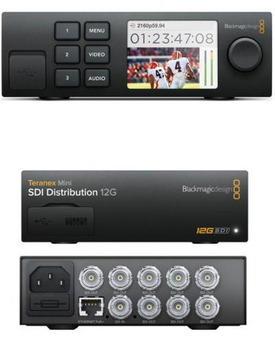Blackmagic 12G-SDI Distribution Amp 1-8 SDI outputs